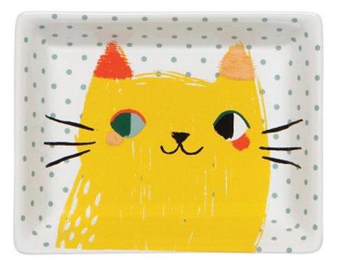 Meow Meow Cat Ceramic Tray