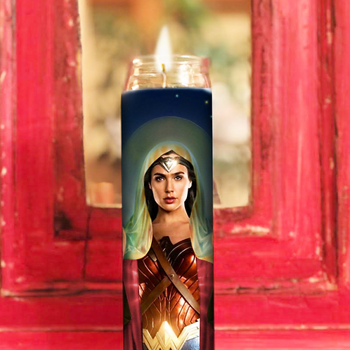 Wonder Woman Prayer Candle