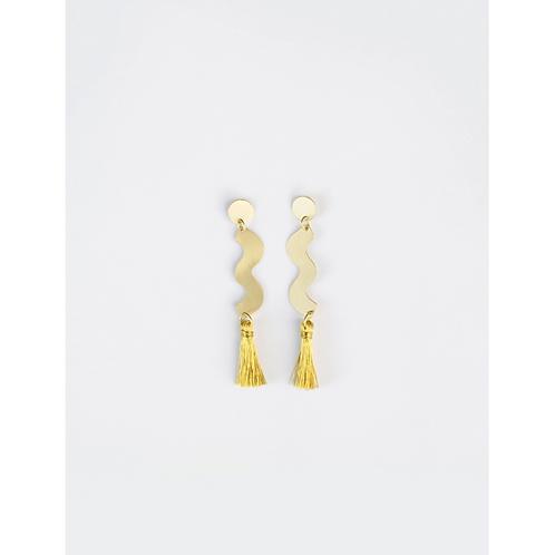 Gold Sisley Squiggle Stud Earrings