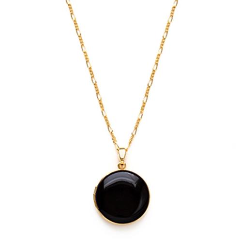 Large Round Locket Necklace