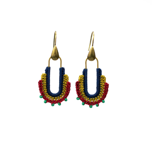 Moss Guadalupe Hoops Navy/gold/red