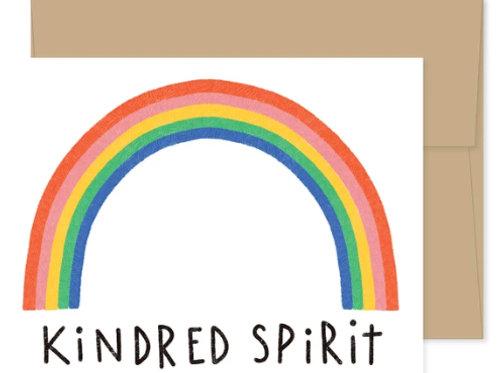 """Blank Card """"Kindred Spirit""""  Rainbow"""