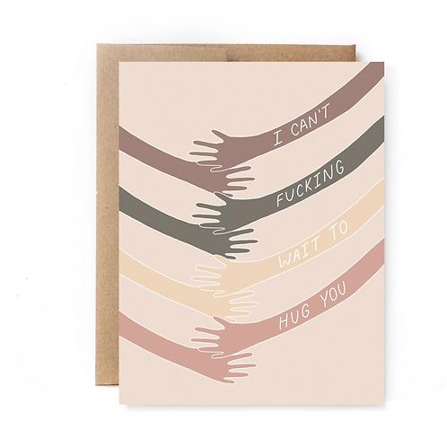 Hug You Card- Miss You Blank Card