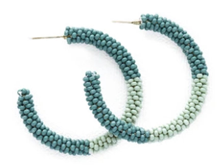 Ink + Alloy Teal and Mint Small Hoop Earrings