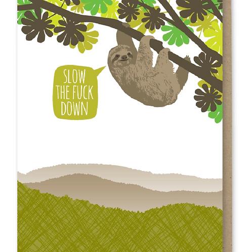 Sloth Slow Down Birthday Card