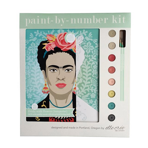 Frida with Flowers Paint-By-Numbers