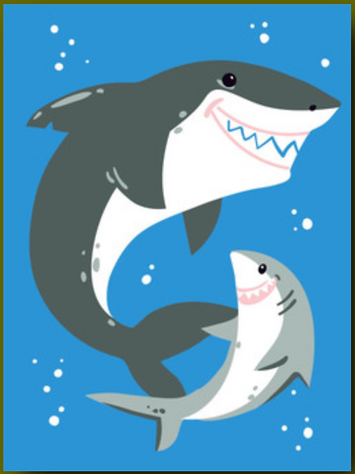 Father's Day Card - Sharks