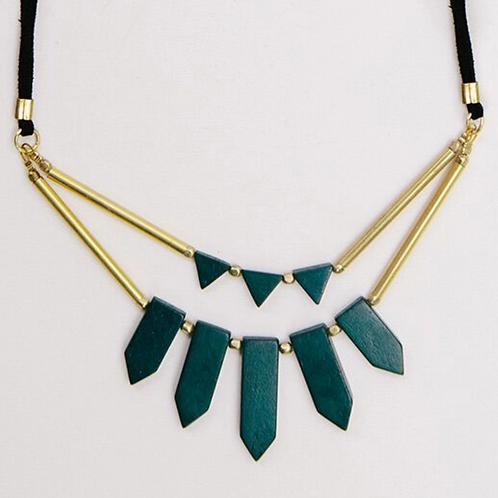 Ishaana Green Necklace