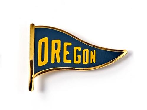 Oregon Pennant Enamel Pin