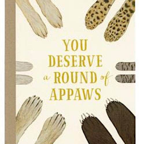 "Congratulations Card ""Round of Appaws"""