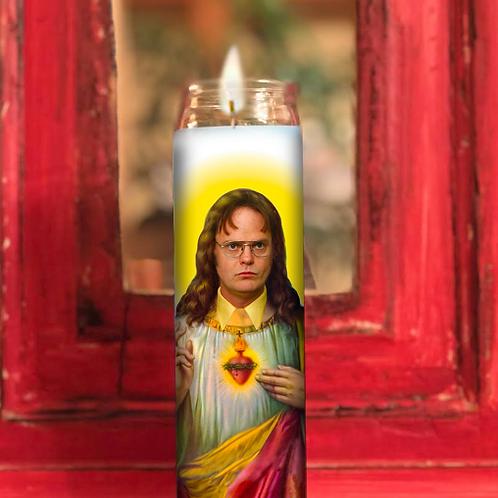 Dwight Shrute Prayer Candle