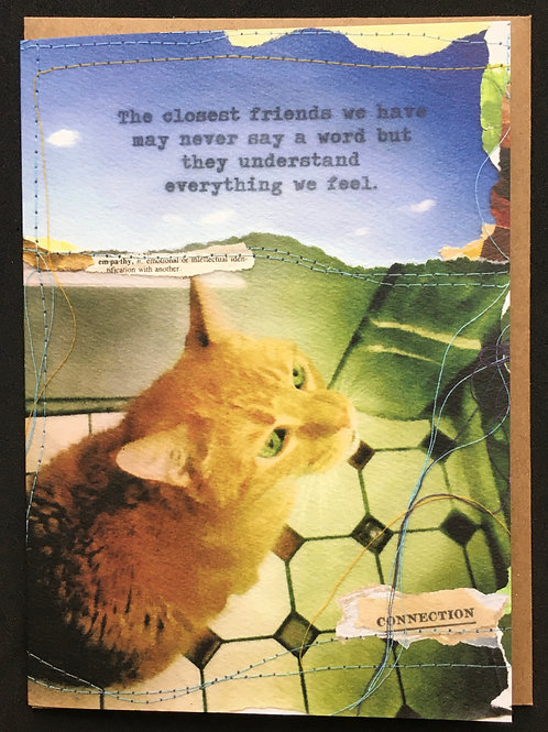 Cat Sympathy Card - The closest friends we have ...