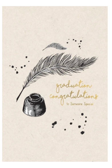 Graduation Card - Quill Pen and ink