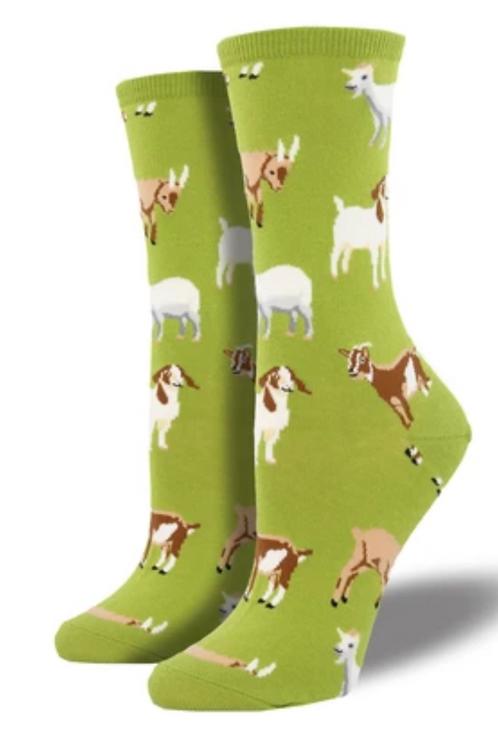 """""""Silly Billy"""" Goat Socks - Women's"""