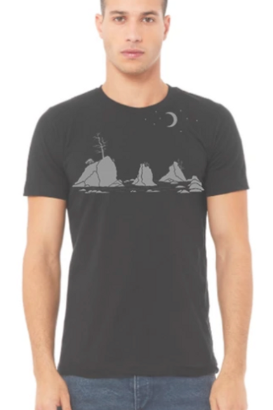 Moon Over Three Graces Unisex Tee-Shirt Men's