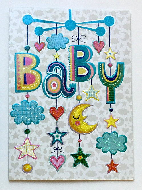 New Baby Card - Baby Mobile