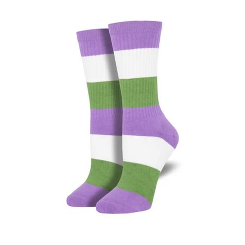 Genderqueer Pride Socks - 2 Sizes
