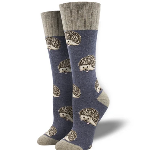 """A Bit On The Hedge"" Socks-Blue"