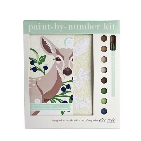 Deer and Huckleberries Paint-By-Numbers