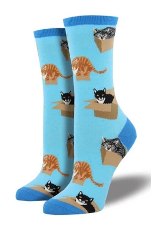 Cat in a Box Socks - Men's