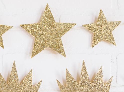 Glitter Star Banner