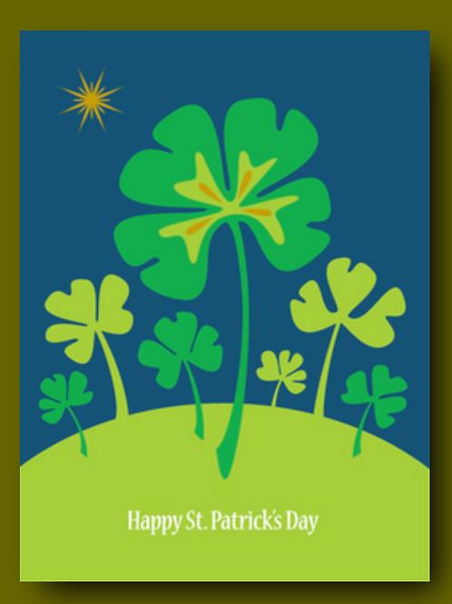 Shamrock St. Patrick's Day Card