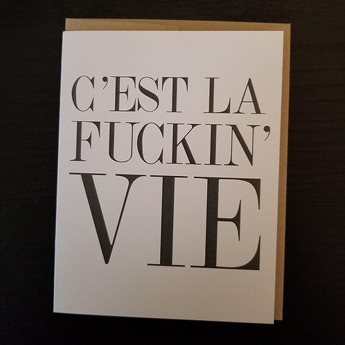 C'est La Vie Blank Card