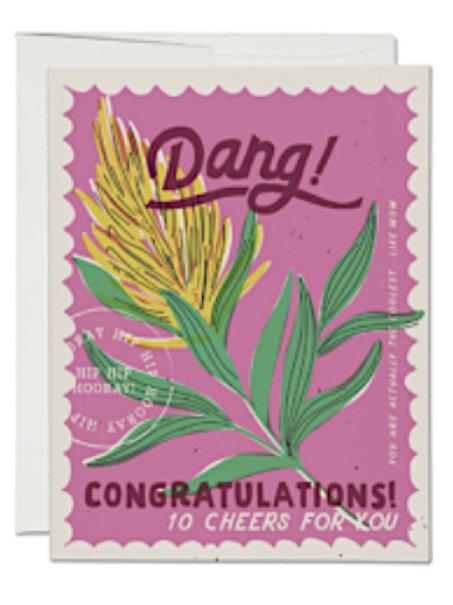 """Congratulations Card - Yellow flower - """"Dang"""""""