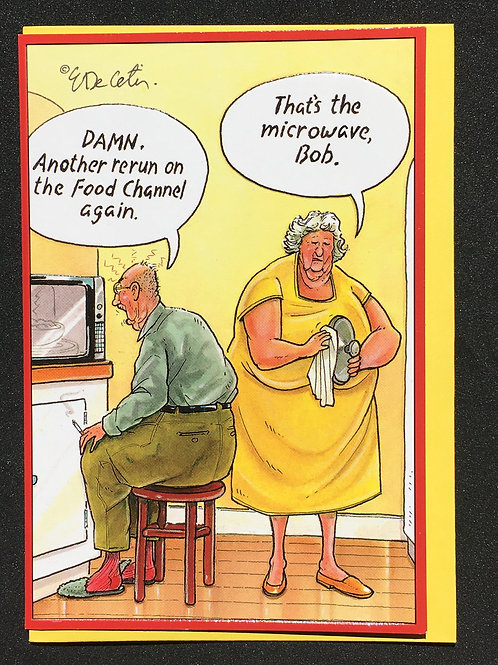 Couple with Microwave Anniversary Card