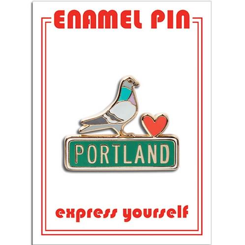 Portland Pigeon Enamel Pin