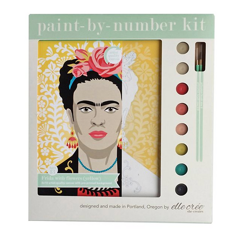 Frida with Flowers Paint-By-Numbers (yellow)