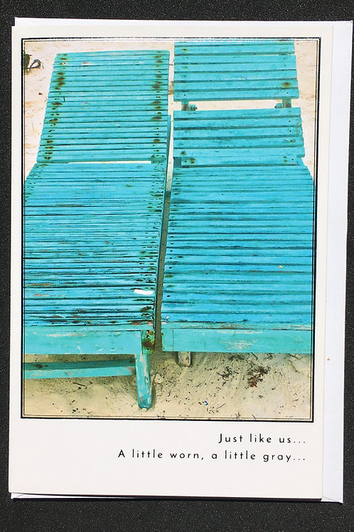 Beach Chairs Anniversary Card