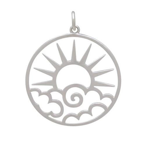 Openwork Sun Pendent Necklace