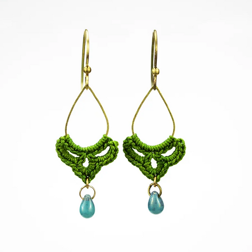 Moss Small Teardrop Earrings