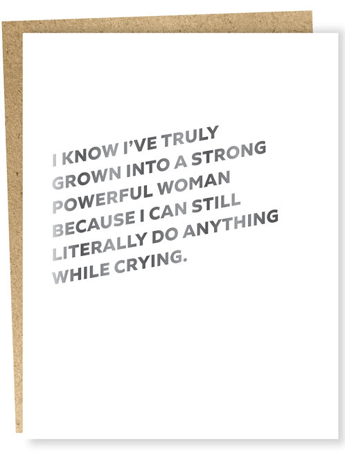 Powerful Woman Blank Card