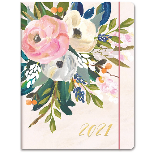 Bella Flora 2021 Just Right Monthly Planner (17 month)