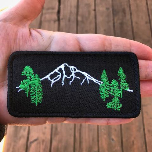 Mt Hood Forest Iron-On Patch