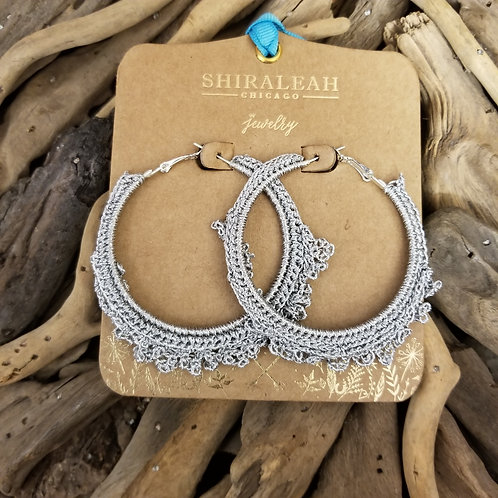 Shiraleah Emme Crocheted Hoops Earrings