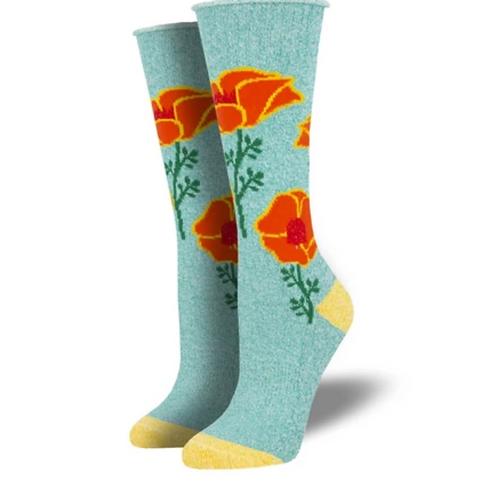 """California Poppies"" Socks"