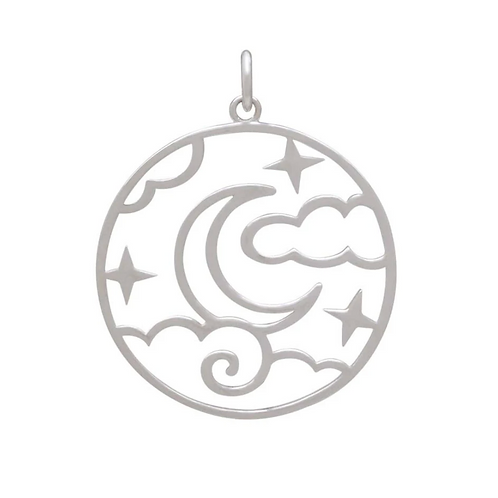 Openwork Night Sky Pendant Necklace