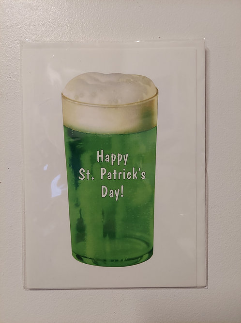 Green Beer St Patrick's Day Card