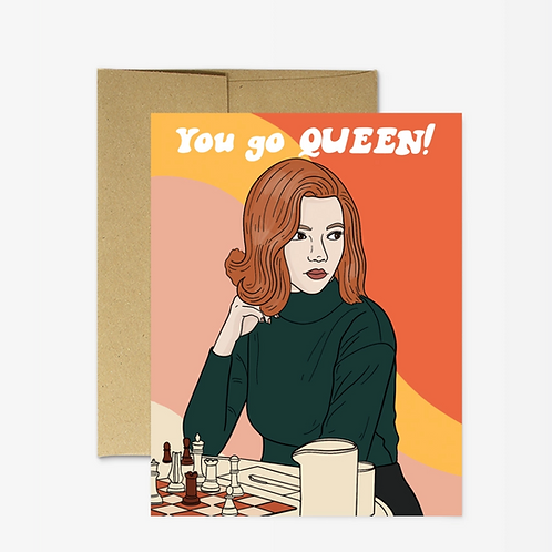 Chess Queen Card