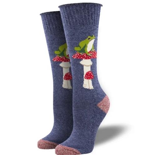 """""""Toad Stools"""" Socks-Blue"""