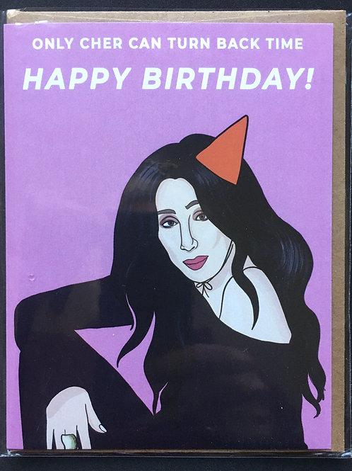 Cher Birthday Card
