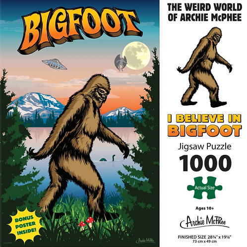 I Believe In Bigfoot 1000pc Puzzle