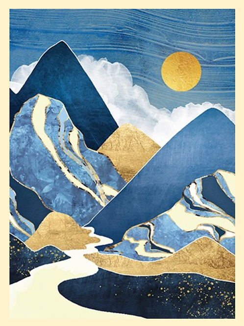 Moon River Birthday Card