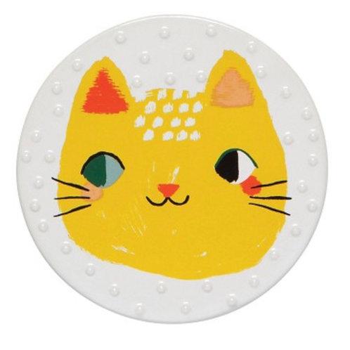 Meow Meow Cat Ceramic Coaster