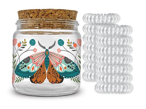Spiral Hair Ties in Decorative Jar