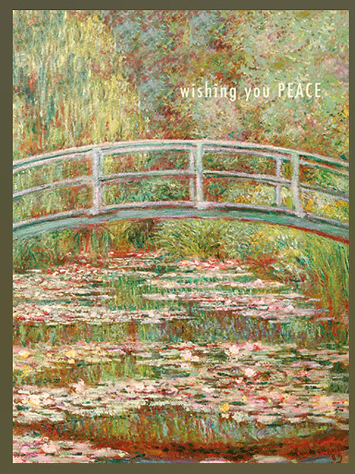 Monet Bridge Sympathy Card