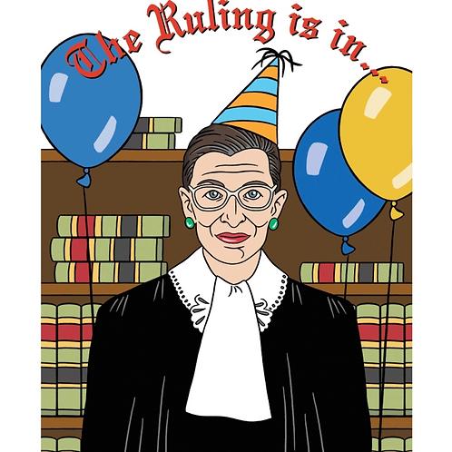 RBG Supreme Birthday Card